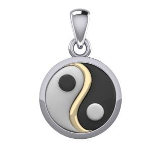 Yin Yang vedhæng - 24mm - u/kæde