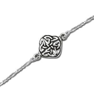 Ankelkæde med Keltisk knude mønster - 20,5cm
