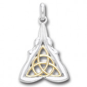 Vedhæng Gudinder med Triquetra - Treenighedssymbolet - u/kæde