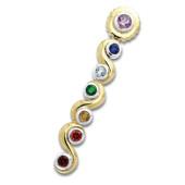 Chakra vedhæng - Forgyldt - u/kæde