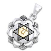 Chakra vedhæng 4 Chakra - Anahata - Hjertechakraet - u/kæde