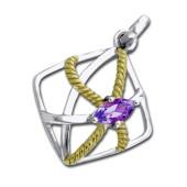 Vedhæng med Ametyst - u/kæde