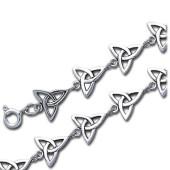 Armbånd med Triquetra - Treenighedssymbolet - 22cm