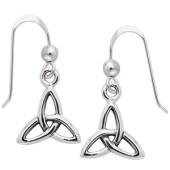 Øreringe med Triquetra - Treenighedssymbolet - pr sæt
