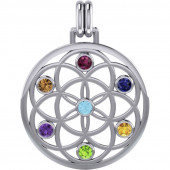 Chakra Flower of Life - 38mm - u/kæde