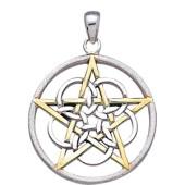 Vedhæng med Pentagram - u/kæde