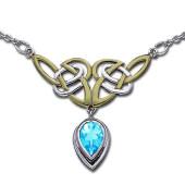 Halskæde med Keltiske knuder og Blå Topas