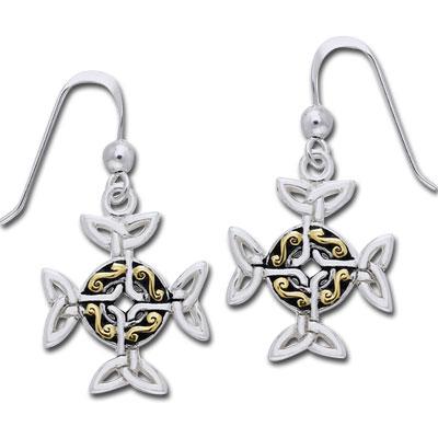 Øreringe Keltisk Kors
