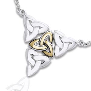 Halskæde med Triquetra – Treenighedssymbolet – pris 899.00