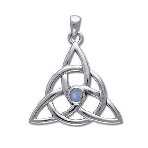 Vedhæng med Triquetra – Treenighedssymbolet og Månesten – u/kæde – pris 269.00