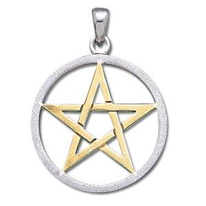 Vedhæng med Pentagram – u/kæde – pris 309.00