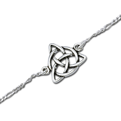 Ankelkæde med Treenighedssymbolet - 17cm