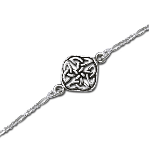 Image of   Ankelkæde med Keltisk knude mønster - 17cm