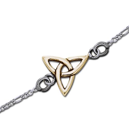 Image of   Ankelkæde med forgyldt Treenighedssymbol - 22cm