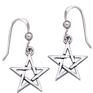 Øreringe med Pentagram - pr sæt