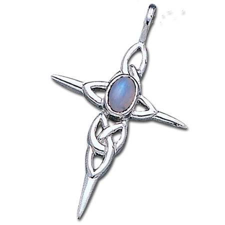 Keltisk kors med Månesten – u/kæde – pris 239.00
