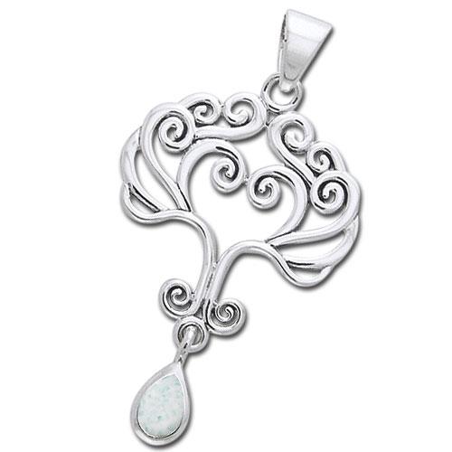 Vedhæng Livets Træ med Opal - u/kæde