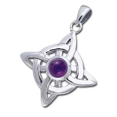 Keltisk Livshjul med Ametyst - u/kæde