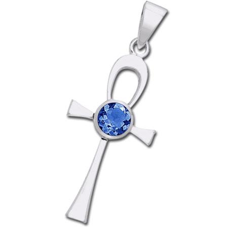 Ankh kors med Safir – u/kæde – pris 179.00