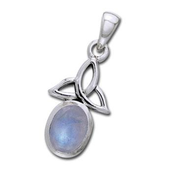 Vedhæng med Triquetra – Treenighedssymbolet og Månesten – u/kæde – pris 209.00