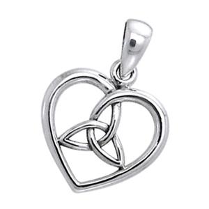 Vedhæng Hjerte med Triquetra – Treenighedssymbolet – u/kæde – pris 119.00
