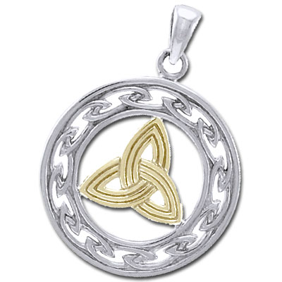 Vedhæng med Triquetra – Treenighedssymbolet – 34mm – u/kæde – pris 369.00