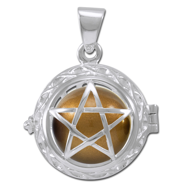 Engleklokke / Harmony ball med Pentagram - u/kæde