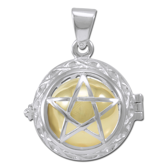 Image of   Engleklokke / Harmony ball med Pentagram - u/kæde
