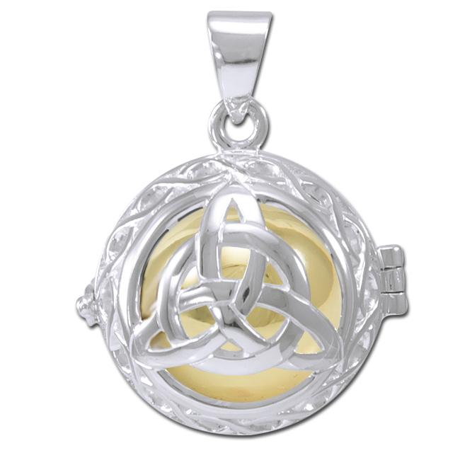 Image of   Engleklokke / Harmony ball med Treenighedssymbol - u/kæde