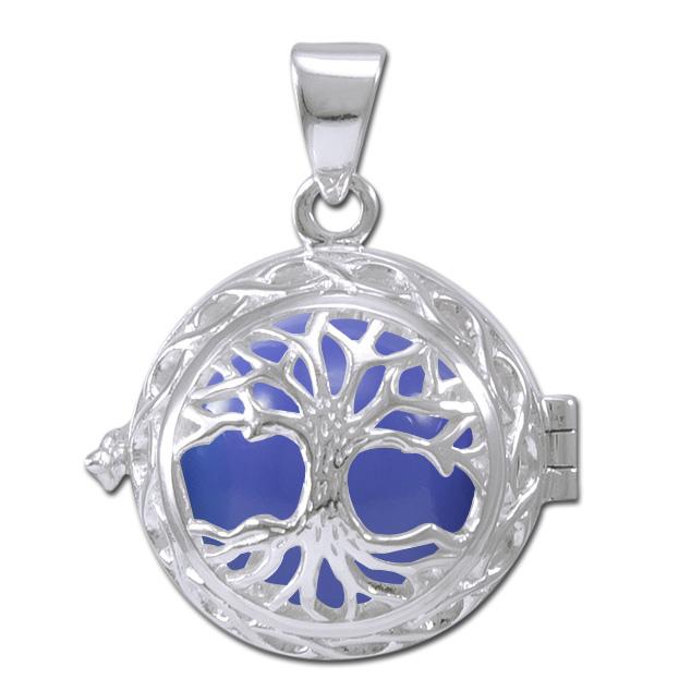 Image of   Engleklokke / Harmony ball med Livets Træ - u/kæde
