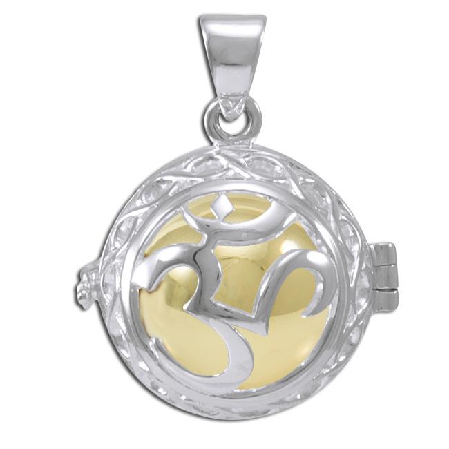 Image of   Engleklokke / Harmony ball med Aum - u/kæde
