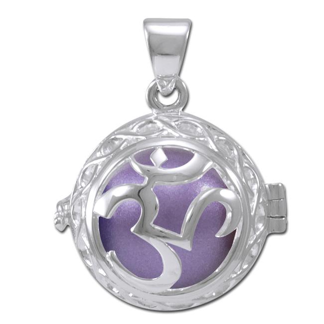 Engleklokke / Harmony ball med Aum - u/kæde