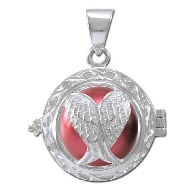 Image of   Engleklokke / Harmony ball med Englevinger - u/kæde