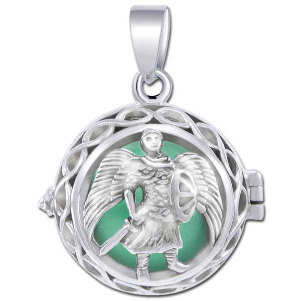 Image of   Engleklokke / Harmony ball med Ærkeenglen Michael - u/kæde