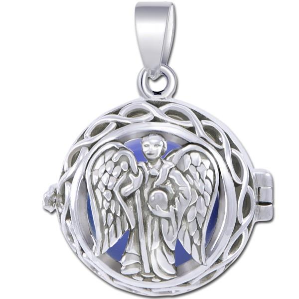 Engleklokke / Harmony ball med Ærkeenglen Raphael - u/kæde