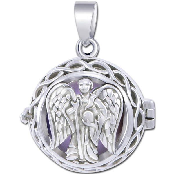 Image of   Engleklokke / Harmony ball med Ærkeenglen Raphael - u/kæde