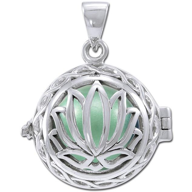 Image of   Engleklokke / Harmony ball med Lotus Blomst - u/kæde