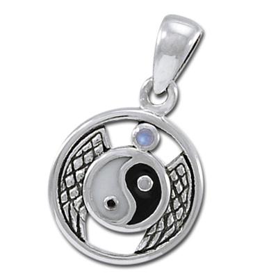 Yin Yang vedhæng med Månesten – u/kæde – pris 179.00