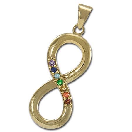 Chakra Uendelighedstegnet vedhæng – forgyldt – 45mm – u/kæde – pris 659.00